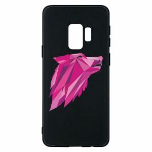 Etui na Samsung S9 Wolf graphics pink