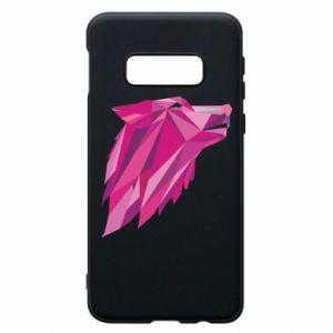 Etui na Samsung S10e Wolf graphics pink