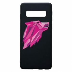 Phone case for Samsung S10 Wolf graphics pink - PrintSalon