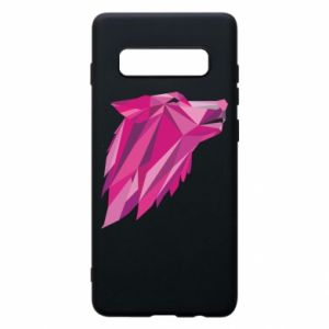 Phone case for Samsung S10+ Wolf graphics pink - PrintSalon