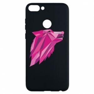 Etui na Huawei P Smart Wolf graphics pink