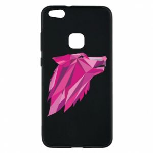 Etui na Huawei P10 Lite Wolf graphics pink