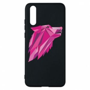 Phone case for Huawei P20 Wolf graphics pink - PrintSalon