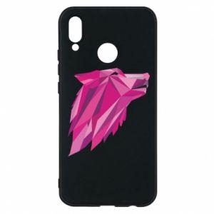 Etui na Huawei P20 Lite Wolf graphics pink