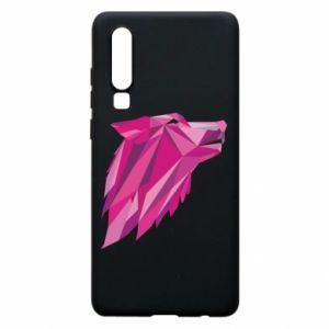 Etui na Huawei P30 Wolf graphics pink