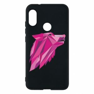 Phone case for Mi A2 Lite Wolf graphics pink