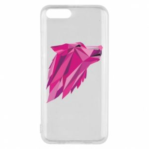 Phone case for Xiaomi Mi6 Wolf graphics pink - PrintSalon