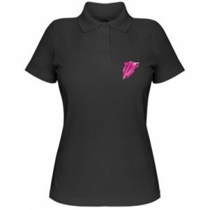 Women's Polo shirt Wolf graphics pink
