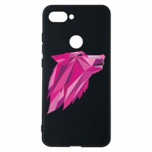 Phone case for Xiaomi Mi8 Lite Wolf graphics pink