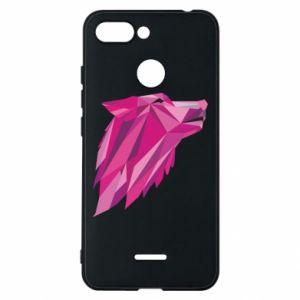 Etui na Xiaomi Redmi 6 Wolf graphics pink