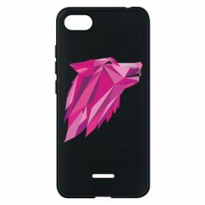 Etui na Xiaomi Redmi 6A Wolf graphics pink