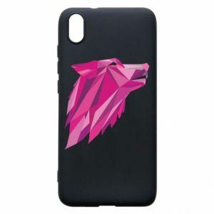 Etui na Xiaomi Redmi 7A Wolf graphics pink