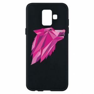 Etui na Samsung A6 2018 Wolf graphics pink