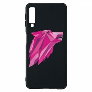 Phone case for Samsung A7 2018 Wolf graphics pink - PrintSalon