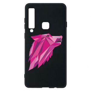 Etui na Samsung A9 2018 Wolf graphics pink