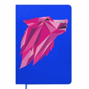 Notes Wolf graphics pink