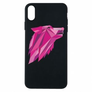 Etui na iPhone Xs Max Wolf graphics pink