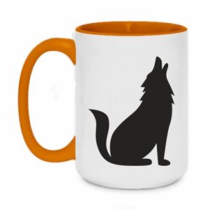 Kubek dwukolorowy 450ml Wolf howls