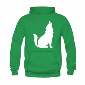 Bluza z kapturem dziecięca Wolf howls