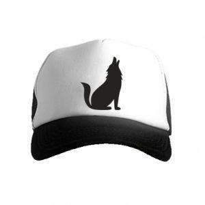 Czapka trucker dziecięca Wolf howls