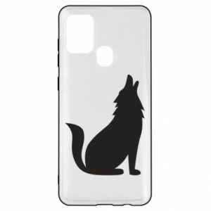 Etui na Samsung A21s Wolf howls