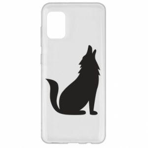 Etui na Samsung A31 Wolf howls