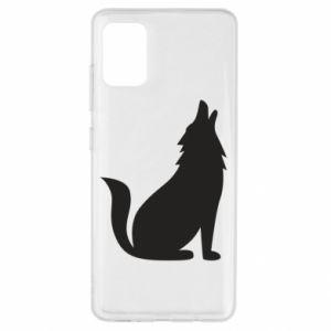 Etui na Samsung A51 Wolf howls
