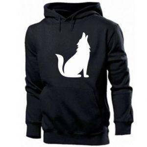 Bluza z kapturem męska Wolf howls