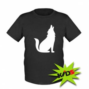 Kids T-shirt Wolf howls