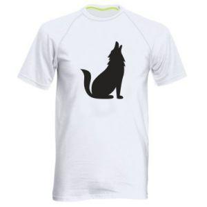 Men's sports t-shirt Wolf howls