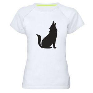 Koszulka sportowa damska Wolf howls