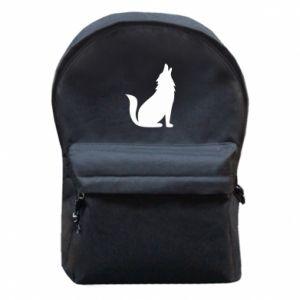 Plecak z przednią kieszenią Wolf howls