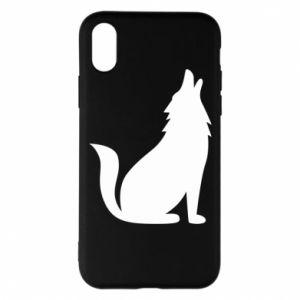 Etui na iPhone X/Xs Wolf howls