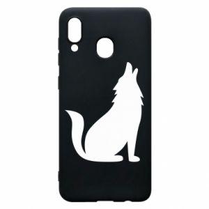 Etui na Samsung A20 Wolf howls