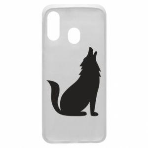 Etui na Samsung A40 Wolf howls