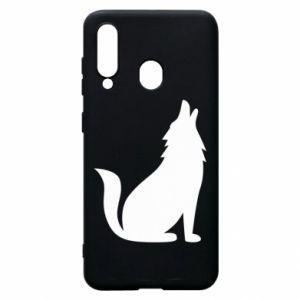 Etui na Samsung A60 Wolf howls