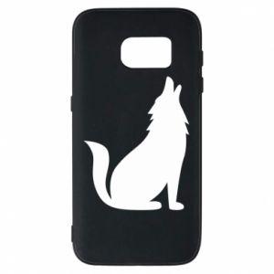 Etui na Samsung S7 Wolf howls