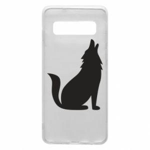 Etui na Samsung S10 Wolf howls