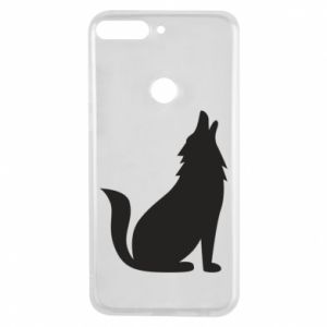 Phone case for Huawei Y7 Prime 2018 Wolf howls