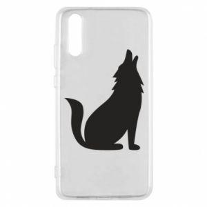 Etui na Huawei P20 Wolf howls