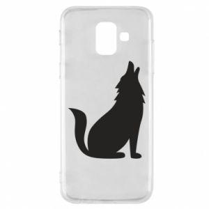 Etui na Samsung A6 2018 Wolf howls