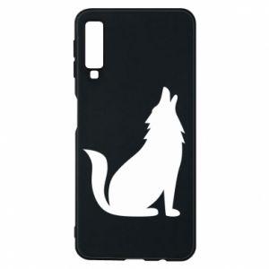 Etui na Samsung A7 2018 Wolf howls