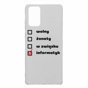 Etui na Samsung Note 20 Wolny, żonaty