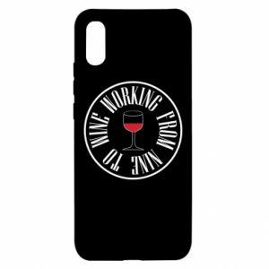 Xiaomi Redmi 9a Case Working from nine to wine