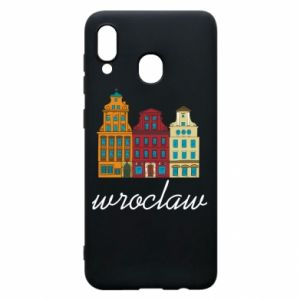 Phone case for Samsung A30 Wroclaw illustration