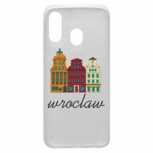 Phone case for Samsung A40 Wroclaw illustration