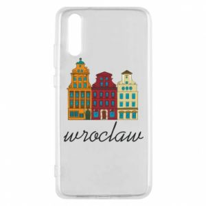 Phone case for Huawei P20 Wroclaw illustration