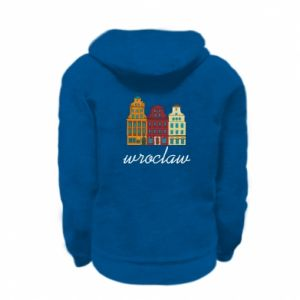 Kid's zipped hoodie % print% Wroclaw illustration