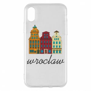 Etui na iPhone X/Xs Wroclaw illustration