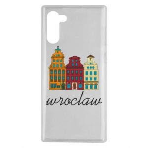 Samsung Note 10 Case Wroclaw illustration